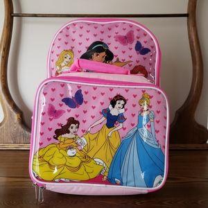 Disney Princess Kids Backpack and Lunchbag